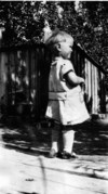Jean (r) as a child, ca. 1929.