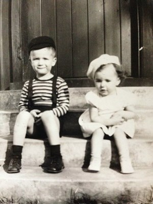 Sharon and her brother Steve circa 1943