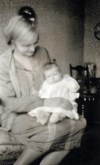 Ferol held by her mother ~ 1928