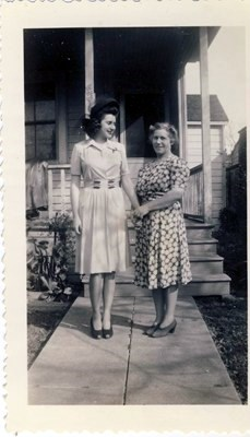 Marie and her Mother on Locust Street, San Jose, CA