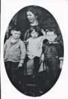 October 1927 Ma Curry, holding Jessie, Maurice left and Maze right, her older brothers.