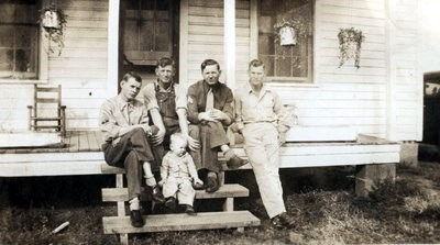 Left to right: T.J., Lester, Thomas and J.D. Pike. James Edward Pike (Lester's boy in front)